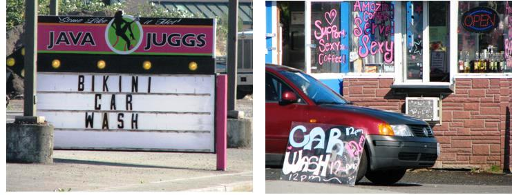 Java Juggs and Bikini Hut are both offering Bikini Car Washes