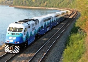 Sounder train from Everett to Seattle