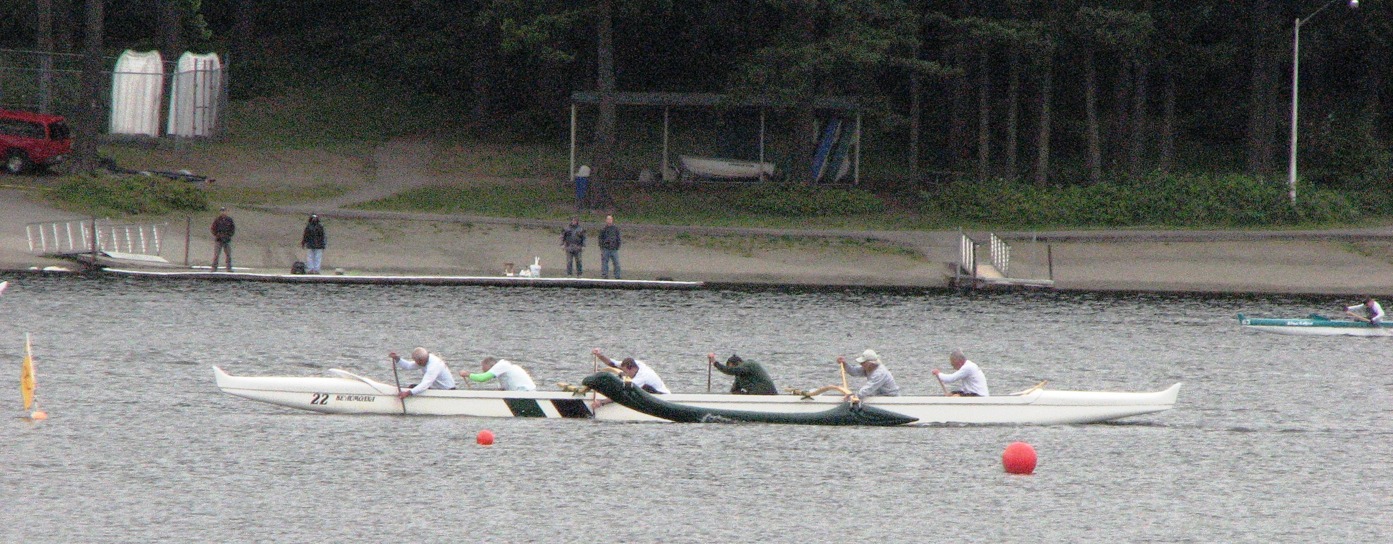 Outrigger Canoe Races on Everett's Silver Lake Today From 10am ? 2pm