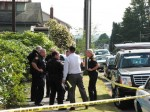 Everett Police at burglary scene