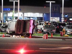 fatal truck versus bike accident in Everett, WA