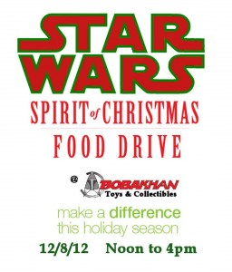 Star Wars themed food drive