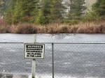 Beverly Lake Ice rescue sign