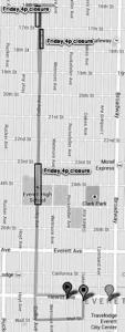 Everett street closures