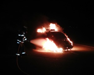 Everett car fire