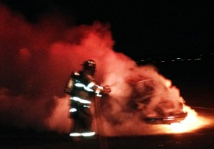 VW on fire