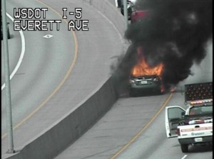 Everett, WA car fire