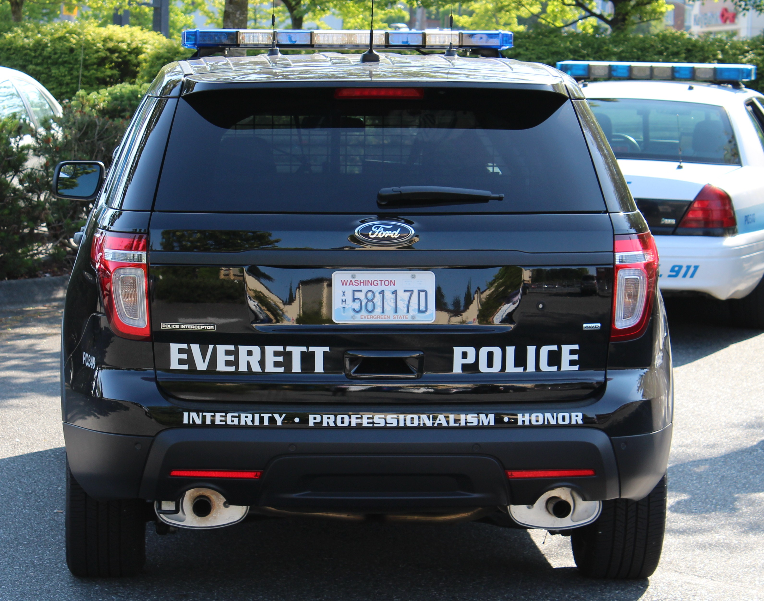 New Everett Police Suv Rear View