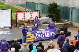 $15 hour rally in Everett, WA