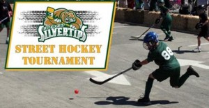 Everett Silvertips street hockey