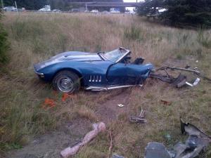 crashed vette