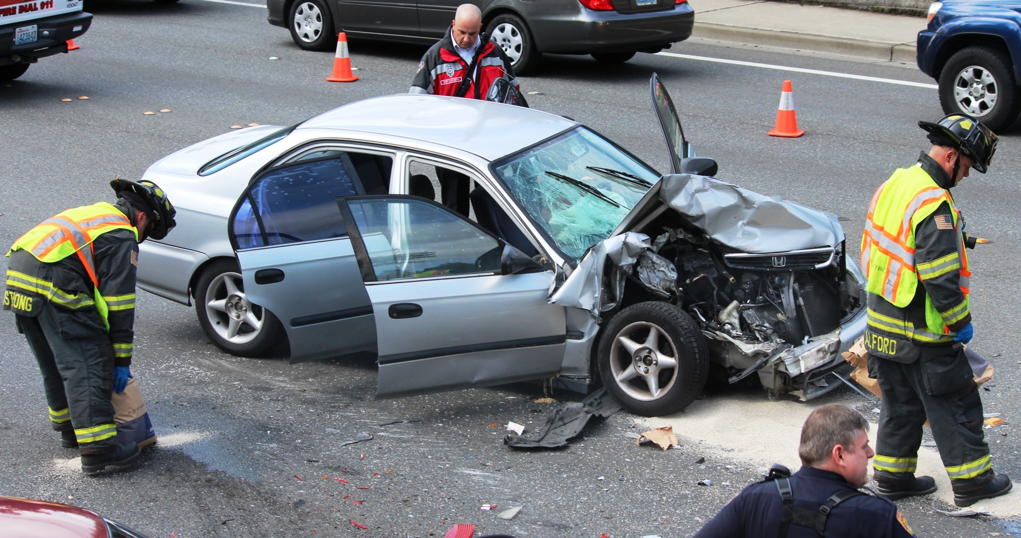6 Car Crash Ties Up 112th At Start of Afternoon mute
