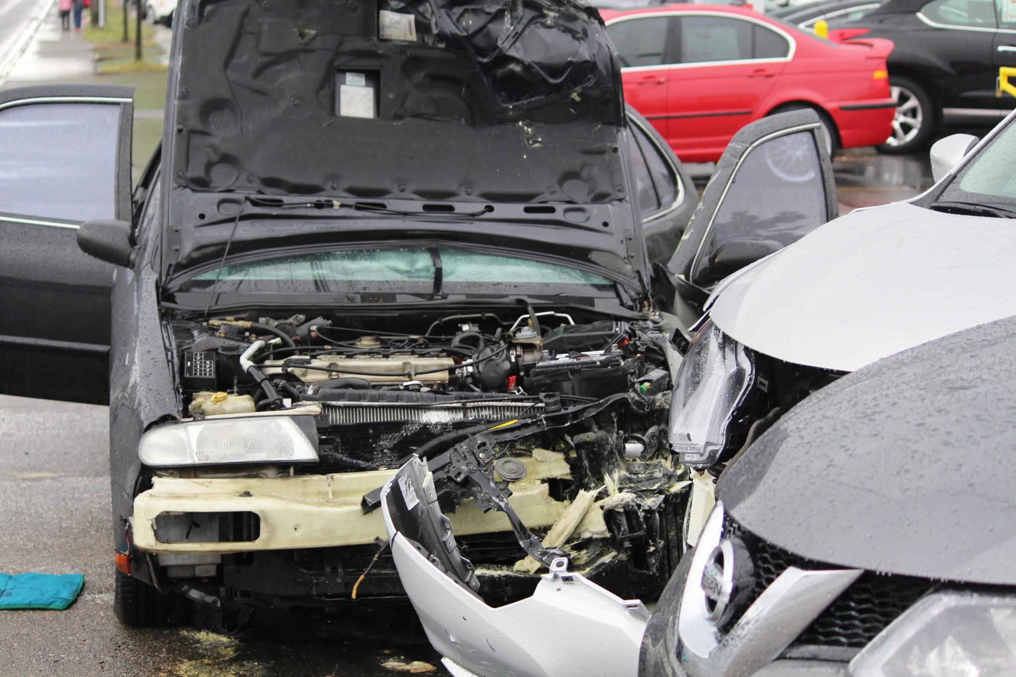 Crash and Fire at Everett Nissan Dealership Wrecks Five Cars ...
