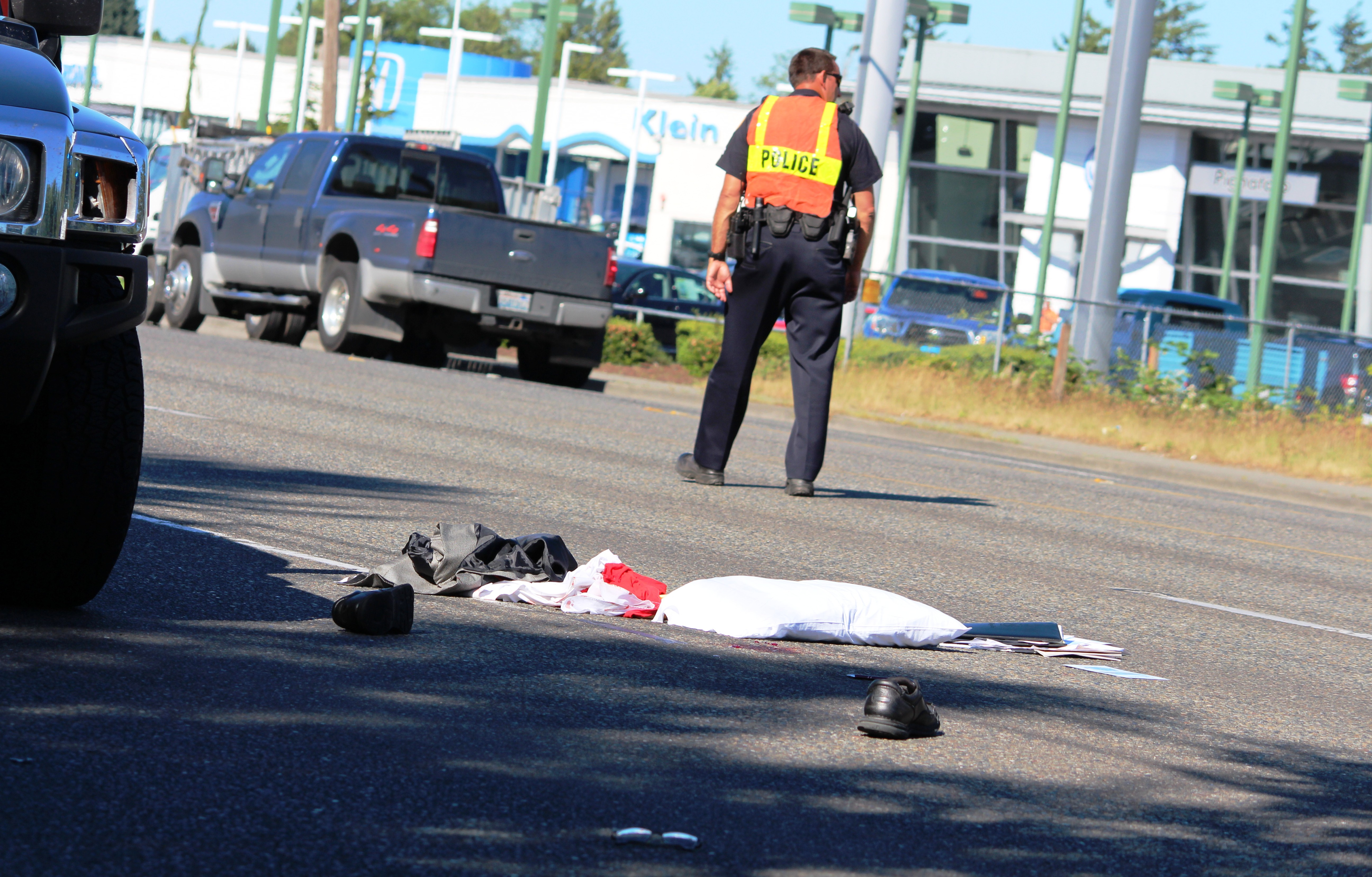 Serious Car Pedestrian Accident Slowing Traffic In South