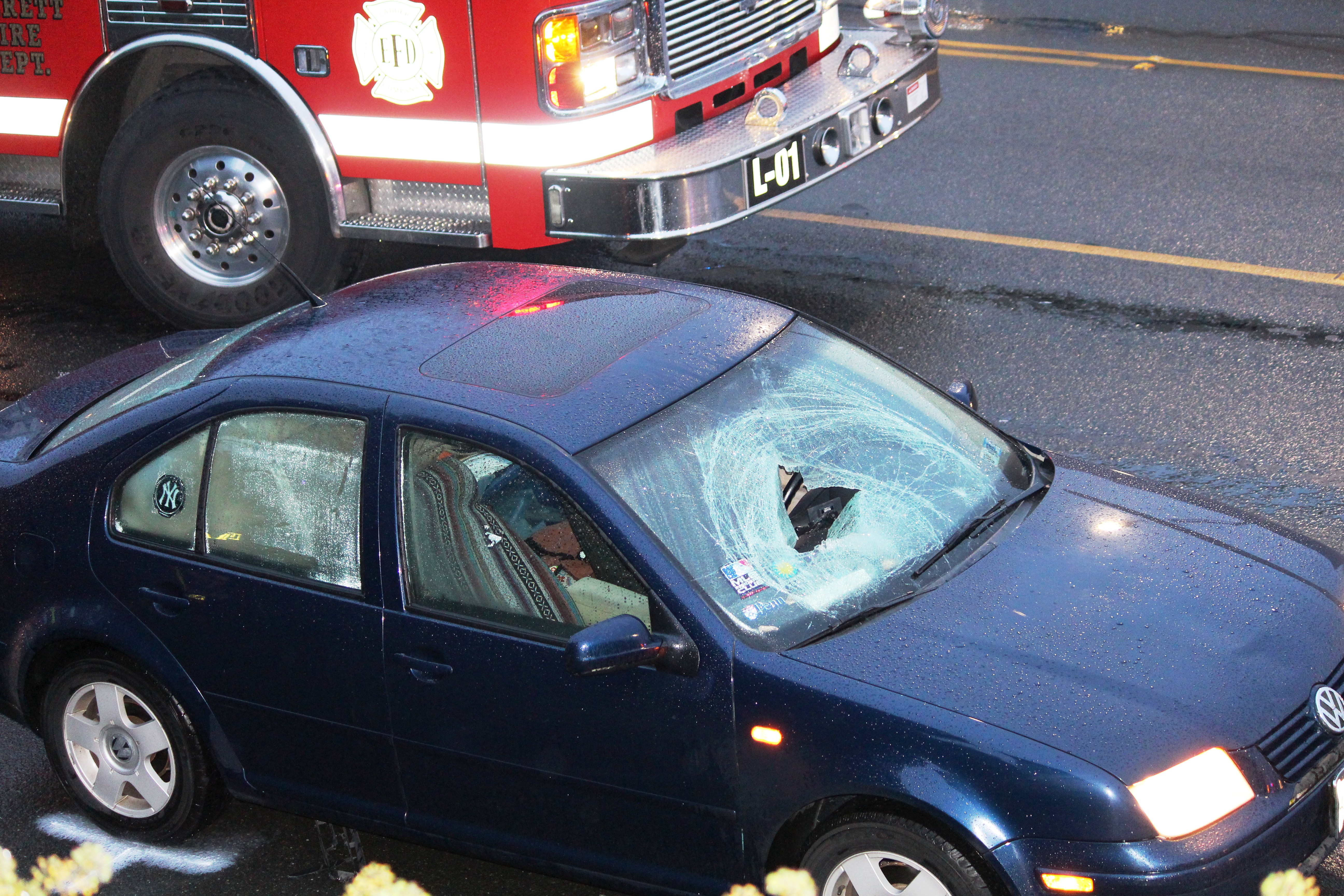 Car Vs Pedestrian Crash At 40th And Rucker