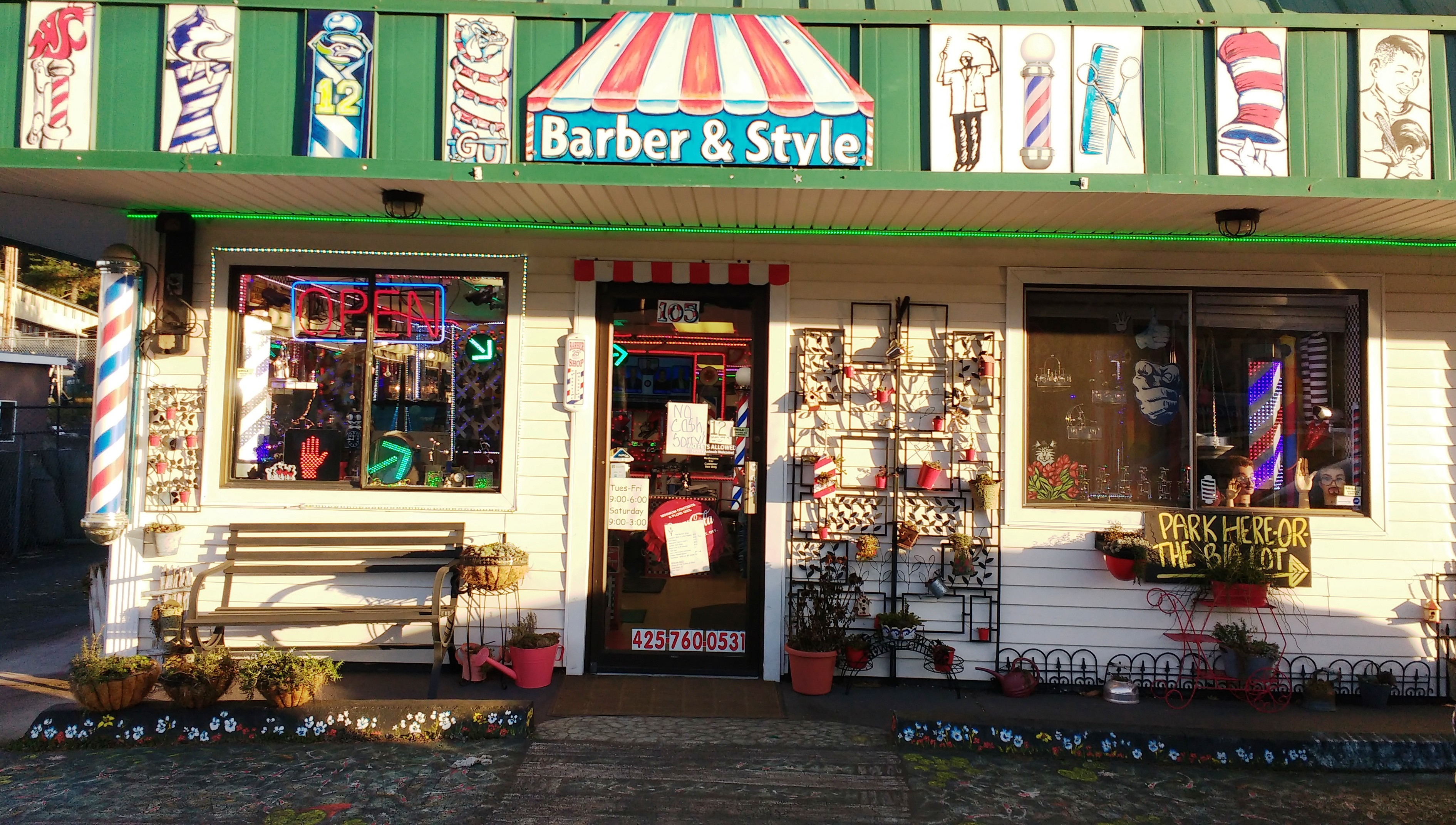 Barber Shop Everett : You can?t miss the Barber Shop Stop in the 5700 block of Evergreen ...