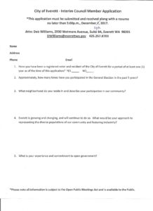 city council application