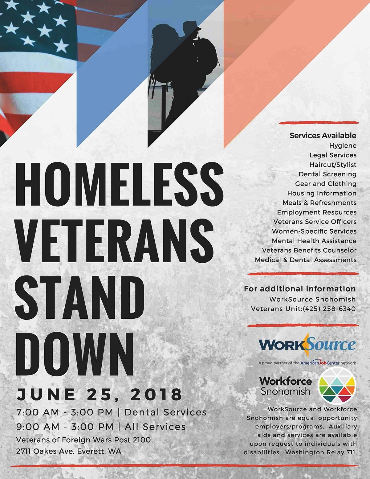 Veterans stand down in everett monday myeverettnews the event is free and veterans do not have to be homeless to participate solutioingenieria Images