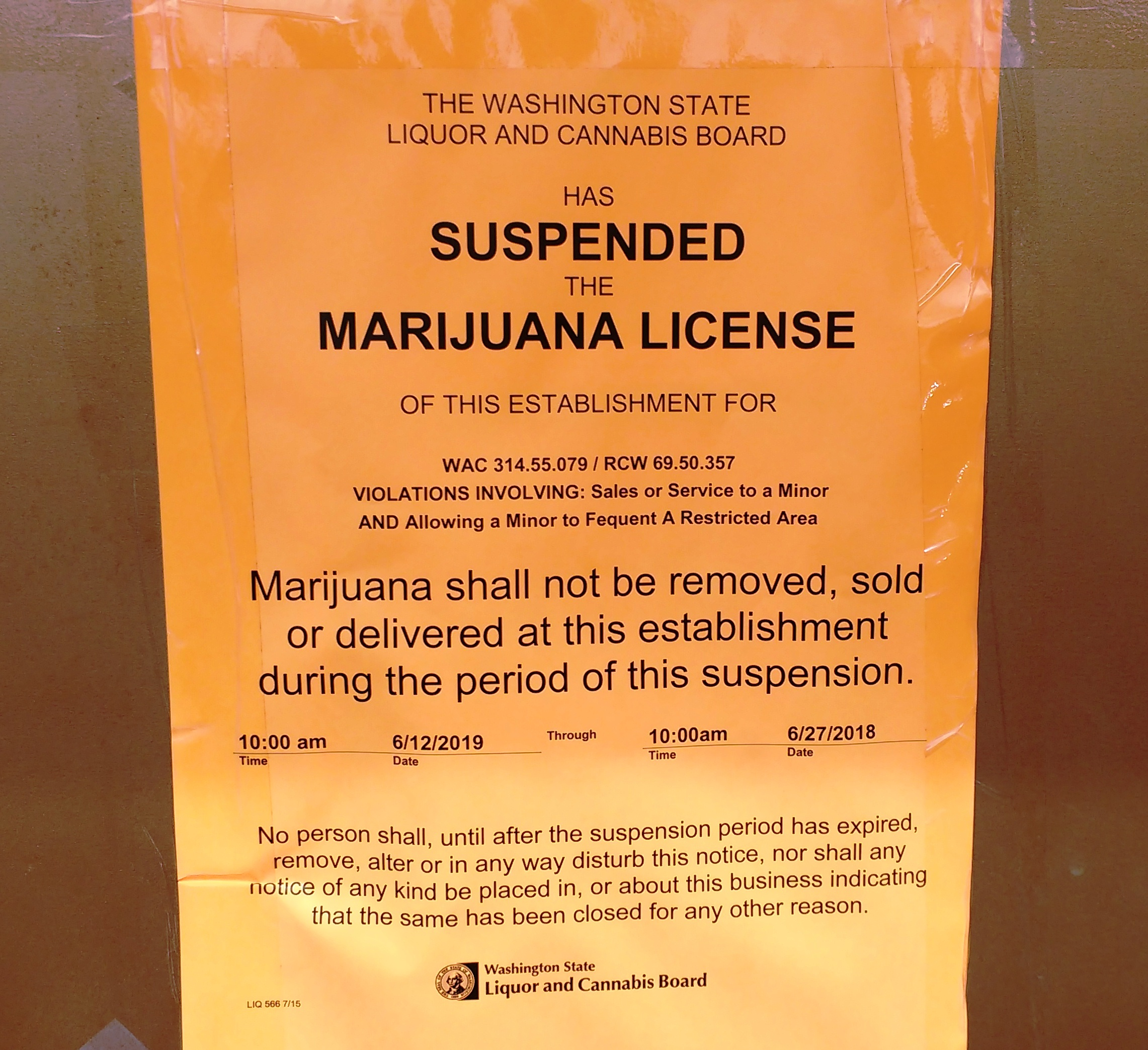 Everett Retail Pot Shop License Suspended For Selling To Minors